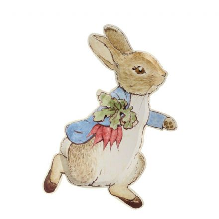 Peter Rabbit Shaped Party Plates
